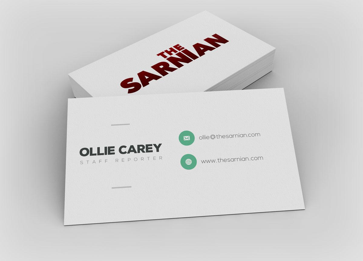 Oliver Carey business card