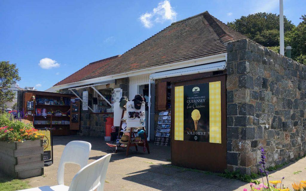 Kiosk at Portelet Bay, Guernsey