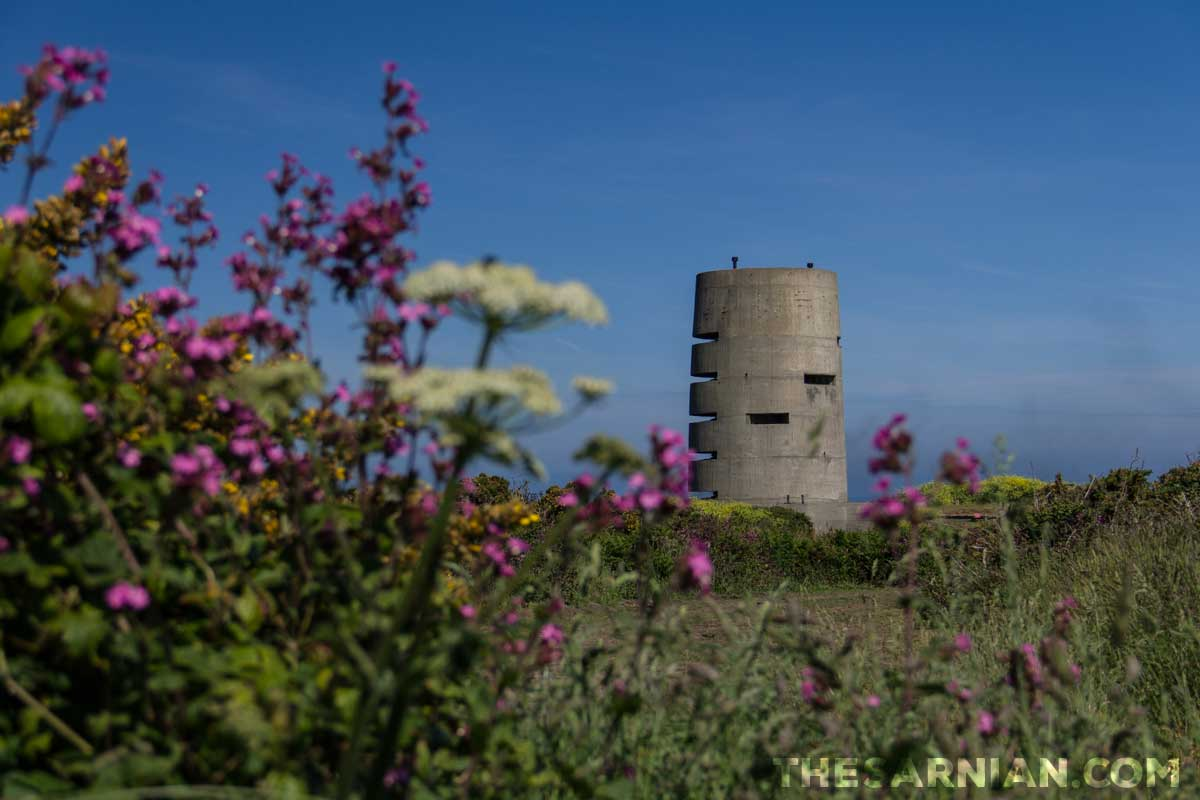 German observation tower at Pleinmont, Guernsey