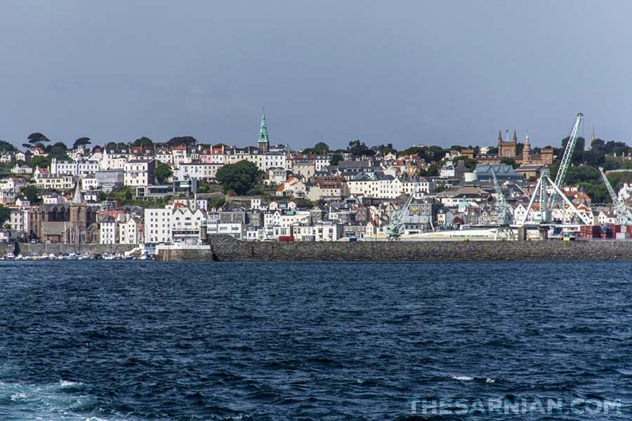 St Peter Port from Herm boat