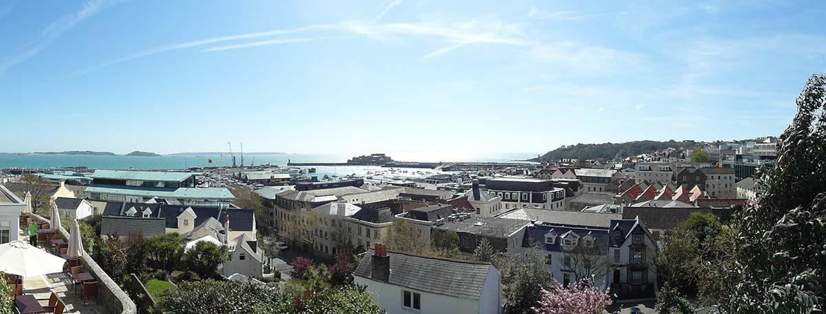 St Peter Port, Guernsey, rooftops