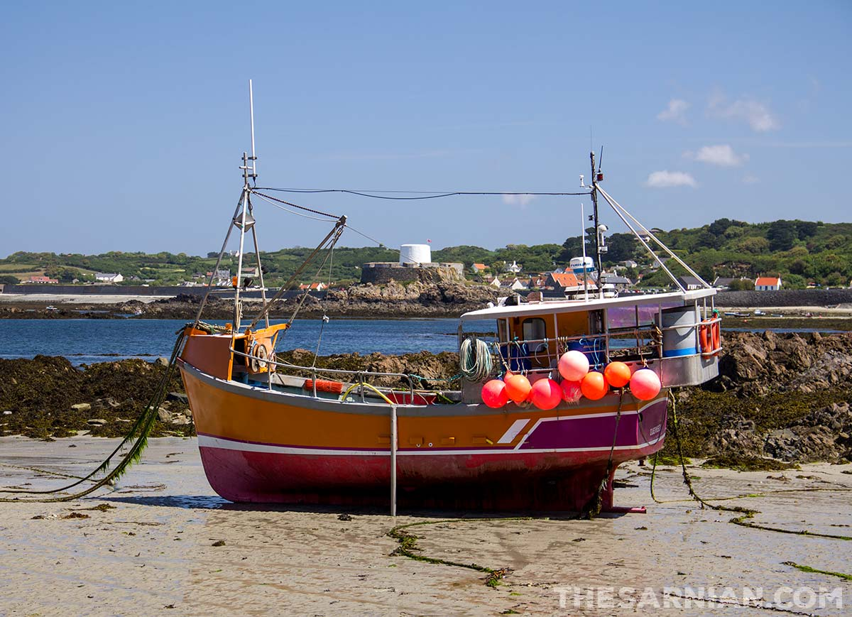 Fishing boat at Portelet Harbour