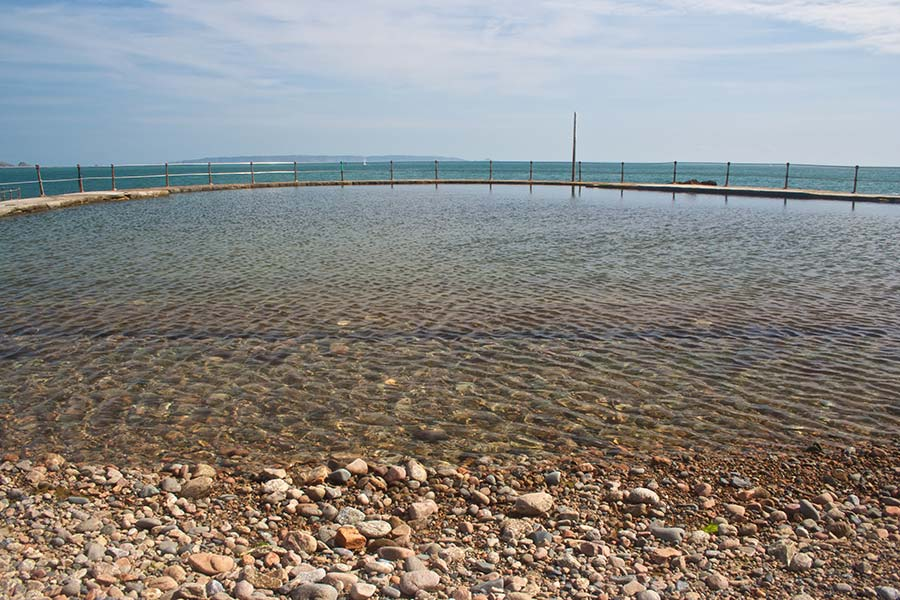 Bathing pool at La Vallette