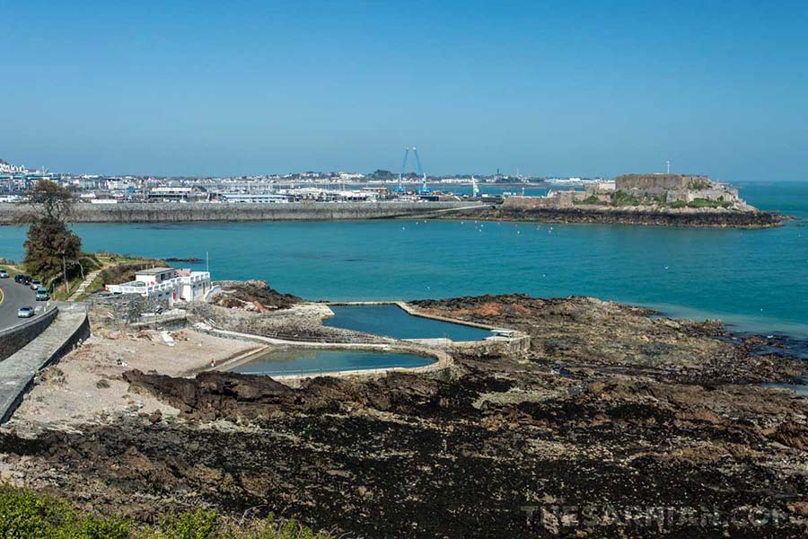 Bathing pools and Castle Cornet