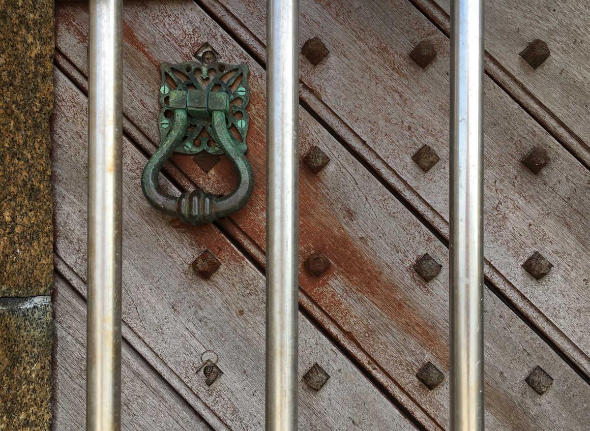 Castle breakwater lighthouse door